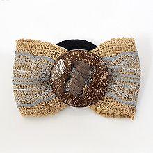 50106发圈发绳, 边夹顶夹, 蝴蝶结蝴蝶结 木头 圆形蕾丝 编织 弹簧夹