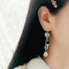 50132耳钉式不对称 水滴形 花 别针 心形 珠子