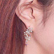 50150耳钉式, 耳夹, 天体自然现象, 平面/立体几何图形月亮 星星  不对称 圆形