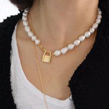 50157珠仔链, 单层链, 锁具, 平面/立体几何图形锁 珍珠 圆形