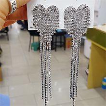 50235耳钉式, 心形, 平面/立体几何图形心形 流苏