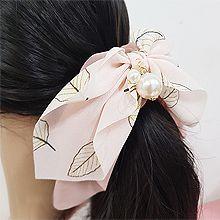 50279香蕉夹, 蝴蝶结, 平面/立体几何图形蝴蝶结 圆形 珠子 叶子