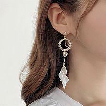 50304耳钉式, 平面/立体几何图形圆形 叶子 珠子 圆环 花瓣