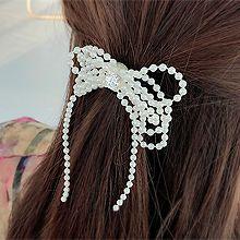 50184发圈发绳, 蝴蝶结, 心形蝴蝶结 心形 珠子