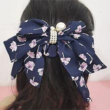 50284边夹顶夹, 蝴蝶结, 植物弹簧夹 珠子 蝴蝶结 花