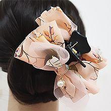 50346爪夹, 蝴蝶结, 植物蝴蝶结 珠子 叶子 花