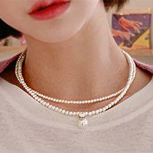 50158穿珠链, 多层链双层 珠子