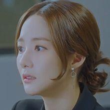 50512耳钉式, 心形, 平面/立体几何图形心形 圆形 整件925银 朴敏英同款 明星款 韩剧 她的私生活