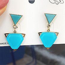 50541耳钉式三角形 六边形