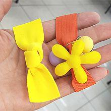 50591发圈发绳, 边夹顶夹, 蝴蝶结, 心形, 植物蝴蝶结 花 圆形 鸭嘴夹 两件套 心形 字母