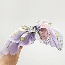50506边夹顶夹, 蝴蝶结, 植物蝴蝶结 花 正方形 弹簧夹