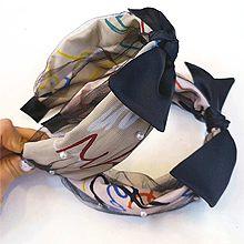 50508发箍发带, 蝴蝶结, 字母数字/符号发箍 蝴蝶结 珠子 字母