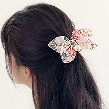 50537发圈发绳, 蝴蝶结, 植物蝴蝶结 花  珠子