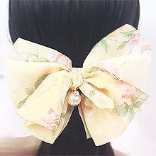50550边夹顶夹, 蝴蝶结, 植物蝴蝶结 花 珠子 弹簧夹