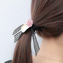 50557发圈发绳, 蝴蝶结, 平面/立体几何图形正方形 蝴蝶结 蕾丝