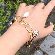 50439锁链形, 单层链珠子 水滴形 贝壳 海螺