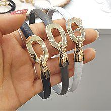 50457手镯形, 带子表带, 单层链椭圆形