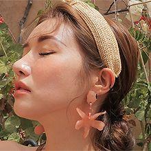 50645耳钉式, 植物, 动物, 平面/立体几何图形密封 圆形 花