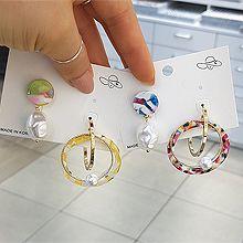 50676耳钉式圆形 不对称 圆环 C形 珠子