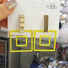 50752耳钉式长方形 正方形 回字形 透明