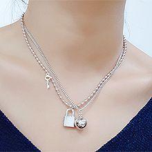 50770珠仔链, 多层链, 锁具, 平面/立体几何图形两件套 锁 圆形 钥匙