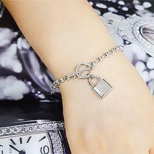 50772珠仔链, 单层链, 锁具, 平面/立体几何图形小锁 圆形 钥匙