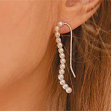 50777耳钉式, 平面/立体几何图形圆形 珠子 不对称