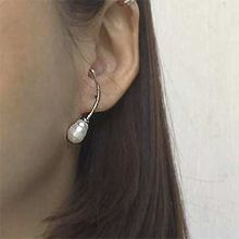 50778耳钉式弧形 珍珠