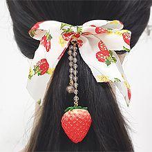 50780发圈发绳, 发簪, 蝴蝶结, 植物蝴蝶结 草莓 花