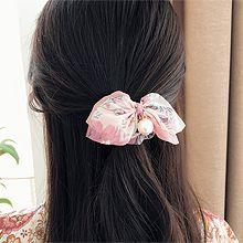 50644发圈发绳, 蝴蝶结, 植物, 平面/立体几何图形花 圆形 珠子 蝴蝶结
