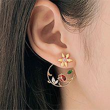 50678耳钉式, 植物圆形 花