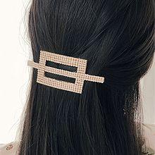50684边夹顶夹, 平面/立体几何图形珠子 椭圆形 弹簧夹 长方形