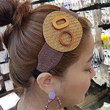 50819发箍发带, 平面/立体几何图形宽发箍 编织 圆形 木头 椭圆形