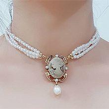50697珠仔链, 多层链, 人物人体, 平面/立体几何图形人 圣母 椭圆形 珠子
