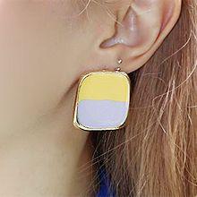 50854耳钉式正方形 长方形