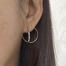 50904耳钉式, 平面/立体几何图形圆环 C形 后挂式