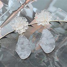50932耳钉式, 植物, 平面/立体几何图形多边形 花