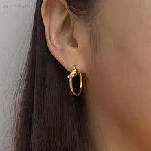50985耳圈耳扣, 平面/立体几何图形圆形 打结