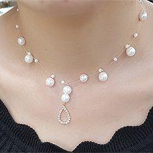 51030珠仔链, 单层链, 平面/立体几何图形珠子 圆形 水滴形