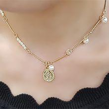 51032锁链形, 单层链圆形 珠子 人 字母