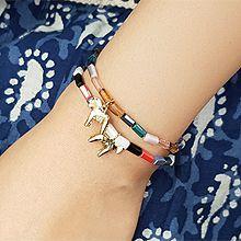51033穿珠链, 单层链, 平面/立体几何图形马 珠子 长方形