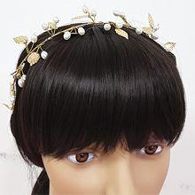 51081发箍发带, 植物发箍 叶子 珠子