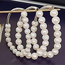 51089穿珠链, 单层链珠子 弧形 珍珠 整件925银