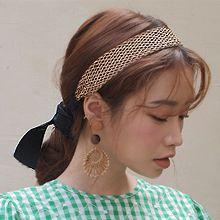51001发箍发带, 蝴蝶结发带 蝴蝶结 编织
