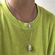 51062锁链形, 多层链珠子 圆形 人 双层