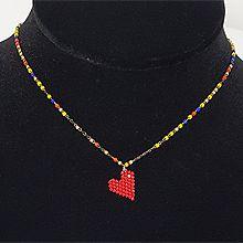 51086锁链形, 单层链, 心形心形