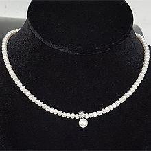 51091穿珠链, 单层链, 植物珠子 珍珠 花