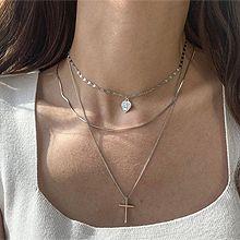 51092锁链形, 多层链, 心形, 十字架, 人物人体, 平面/立体几何图形人像 心形 十字架 三层