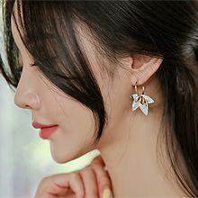 51114耳圈耳扣, 植物, 平面/立体几何图形花 C形