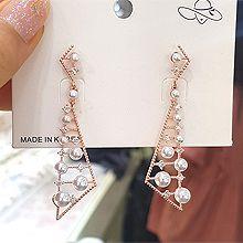 51127耳钉式三角形 珠子